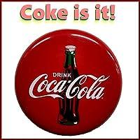 CocaColaコカコーラcokeボタンサインブリキ看板