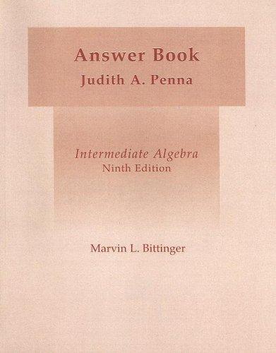Intermediate Algebra Answer Book