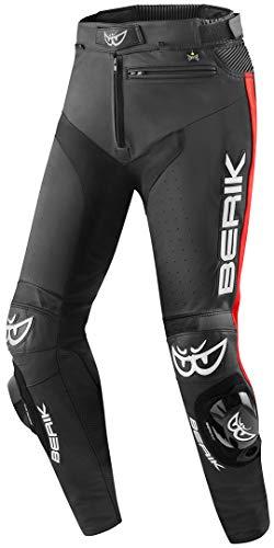 Berik Track Motorrad Lederhose Schwarz/Rot 50