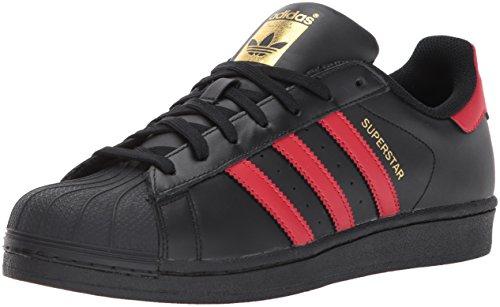adidas Superstar, Zapatillas para Correr Hombre, Cblack/Scarle/Goldmt, 9.5 M US