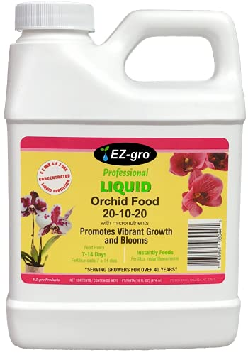 Orchid Fertilizer by E-Z-GRO for Your Orchid Plant   E Z-GRO 20-10-20 Orchid Food has an Enhanced Micro-Nutrient Package for Your Orchid Plants 16 oz