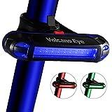 自転車テールライト,USB充電式LEDセーフティライト、超明るい防水サイクリングテールライト、赤/緑/青7つのライトモードはどんなロードバイクにもフィット
