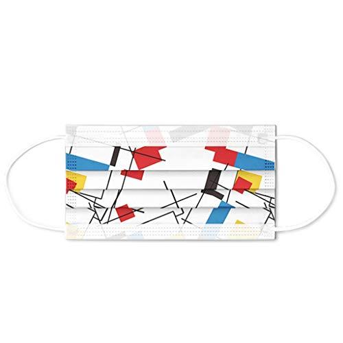 SHUANGA Einwegschutzprodukte, 3 Schichten sichere Belüftung, zuverlässiger Schutz beim Ausgehen, Atemschutz beim Einkaufen Einweg-Gesichts Dental Industrial 3Ply Ear Loop