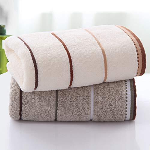 FLAMEER 2 Piezas de Toallas de Algodón de Mano SPA Facial Absorbente de Agua Grandes Toallitas para Adultos para Baño Y Cocina