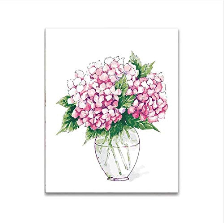 CZYYOU DIY Digital-Malerei Nach Zahlen Roter Vase Färbung Wandkunst Bild Geschenk 40x50cm-Mit Rahmen B07PLGTWBP | Kaufen Sie online