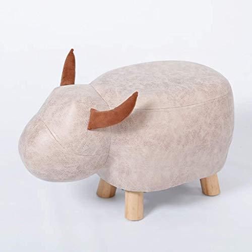 ykw Sofá de Madera Maciza Taburete Moda Animal Creativo Cambio de Forma Banco de Zapatos Hogar