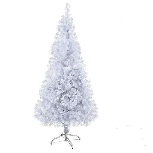 Arcoiris Árbol de Navidad Artificial Acebo, Natural Verde, Material PVC, Soporte deMetal (180CM, Arbol Navidad Blanco)