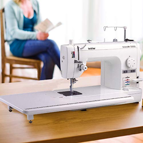 Brother PQ1500SL Quilting Machine Up to 1,500 Stitches Per Minute, Wide Table, 7 Included Sewing Feet