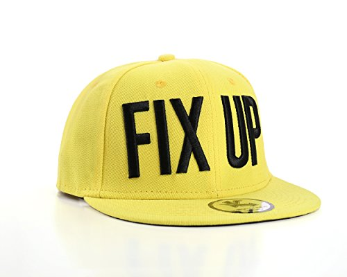 Underground Kulture Fix UP Jaune Casquette de Baseball Réglable (Yellow Snapback)