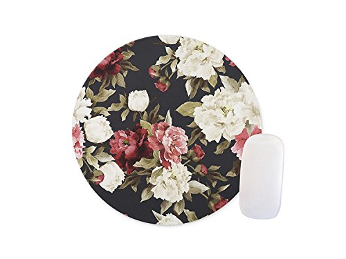 Shuangyi - Flowers Round Mouse pad Customized Non Slip Rubber Round Mouse pad Non Slip Rubber Mouse pad Gaming Mouse Pad