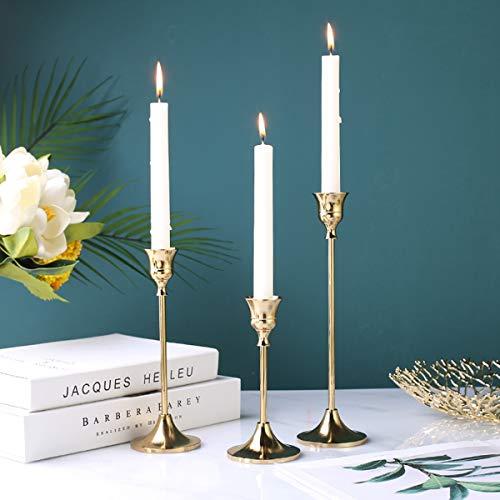 CXHM Retro Eisen Kerzenhalter, Elegante Party Nostalgie Kandelaber Messing Home Decor Kerzenständer, Kerzenhalter, Kerzenhalter(L)
