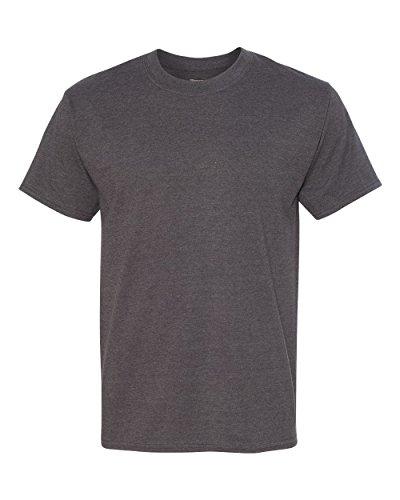 Hanes Men's Beefy-T Crewneck Short-Sleeve T-Shirt, Charcoal Heather - 2X Tall