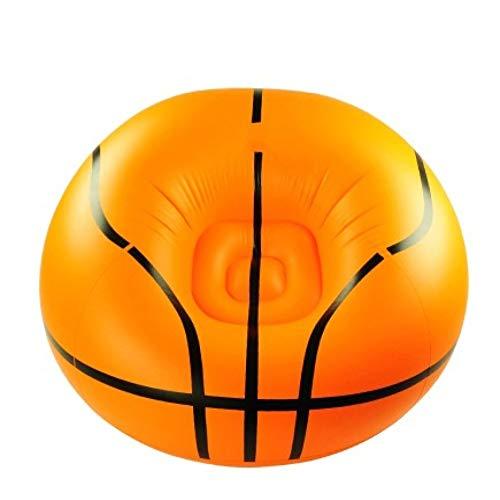 HGA Sofá Inflable Baloncesto Taburete Inflable Perezoso Silla Inflable Sofá Plegable para Habitación Infantil Dormitorio Sala Estar Fiesta,Orange