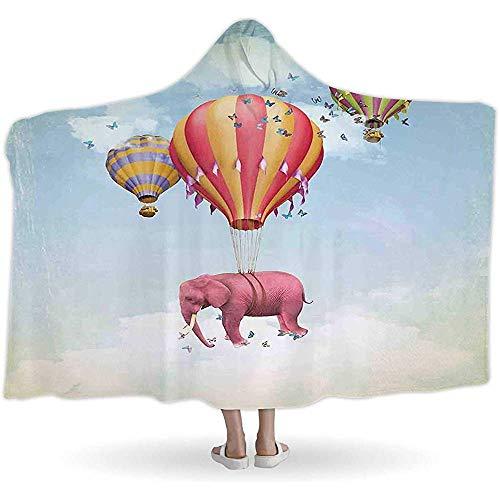Just life Colourfuls Dr, Decken mit KapuzeFarbig im Himmel mit Luftballons jeffcyb Daydream Fairytale Travel Drative, tragbar