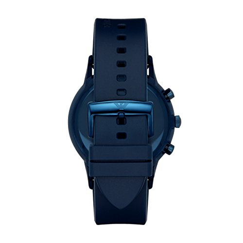 Emporio Armani Herren Chronograph Quarz Uhr mit Gummiarm Armband AR11026