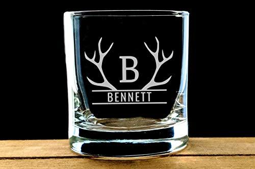 DKISEE Cheers to 60 Jaar Whiskey Glas, Verjaardag Whiskey Glas, Kerstmis, Cadeau voor papa of opa, 40e, 50e, 60e, 70e verjaardag, 11 Ounce Dik Weighted Bottom Clear Wijnglas 11 oz G027
