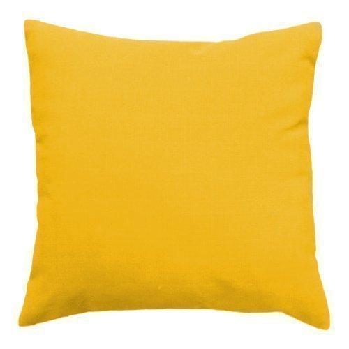 Sierkussen voor buiten, gevuld, waterbestendig, zwart, 43cm - geel, polyester