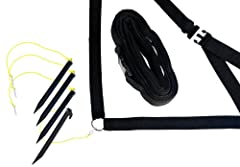 Defines your volleyball court on the beach, a park, or your backyard This outdoor volleyball webbing boundary is durable, and highly visible with a 2-inch wide defining edge Measuring 30-foot x 60-foot, this regulation-size volleyball boundary is eas...