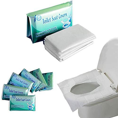 Copriwater Usa e Getta,Copriwater Usa e Getta Bio in Carta Super Resistente Coprisedili WC Monouso Bambini Adulti Ecologico Antibatterico Universale Biodegradabile (60 Pezzi)