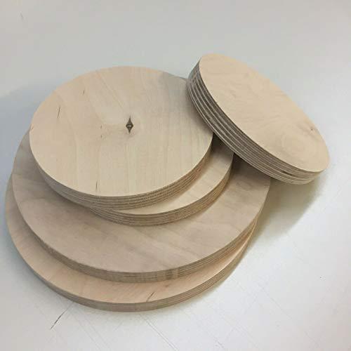 Sticker Design Shop Ronde houten schijf hout rond berk multiplexplaat schijf multiplex tafelblad Ø 800mm