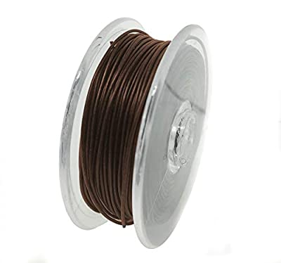 KINGCARP - 20m Spool of Coated HookLink Braid (20lb Breaking Strain Line) Abrasion Restistant Anti Tangle Removeable Skin - For Making Fishing Hook Link Rigs (Mud Brown) [13-102002]