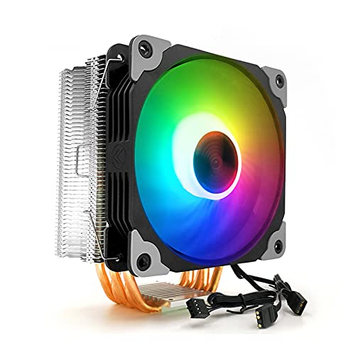 Ventilador silencioso de enfriamiento de la CPU del arco iris LED de los cojines de la anti-vibración del refrigerador de aire de la