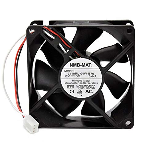 Original 3110RL-04W-B79 8025 DC12V 0.44A 3pin chassis power cooling fan