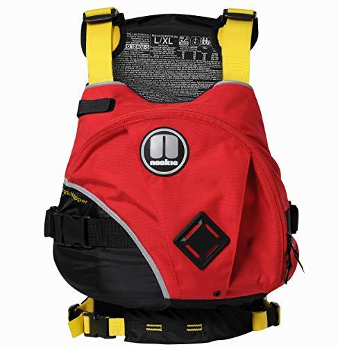 Nookie Rockhopper Kayak Vela Ligera PFD Flotabilidad Ayuda para Deportes acuáticos Rojo Negro - Impermeabilizante a Prueba de Agua - Unisex