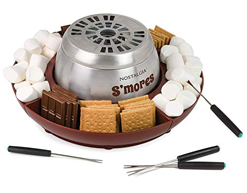 Nostalgia LSM400 Indoor Electric Stainless Steel S'mores Maker