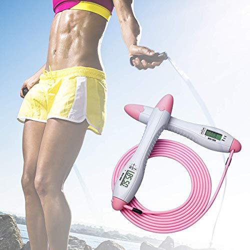 Sautons, Saut comptage numérique Corde Corde réglable Saut à la corde avec le mode minuterie calories Miles, intérieur et extérieur de remise en forme de boxe d'entraînement for les hommes, les femmes