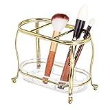 mDesign Organizador de maquillaje para el lavabo o el armario del baño – Soporte para brochas de...