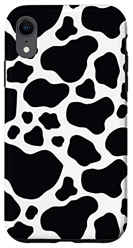 iPhone XR Cow Print Pattern Skin Moo Moo Cool Animal Lover Gifts Case