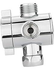 Cabilock Douche-Arm Omstelkraan Roestvrij Staal 3-Weg Universele Kraan Splitter Adapter Voor Handdouche en Vaste Sproeikop 1/2