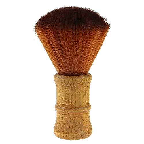 Gobesty Nackenpinsel, Salon Haarschneide Pinsel Friseur Pinsel mit Holz Griff Friseur Zubehör Barbier Haarpinsel