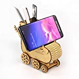 Cute and Functional 3D Wooden Puzzle for Adults Teens Pencil Holder Desk Cell Phone Holder Stand Fun 3D Puzzle Adorable Desk Top Decors Christmas Stockings Model Great Gift for Him/Her