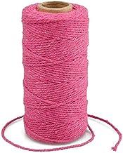 G2PLUS Rose Katoen String Twine, 100 M Gift Wrapping Bakers String, 2 MM Handwerk Decoratieve Cord Twine voor DIY Gift Dec...