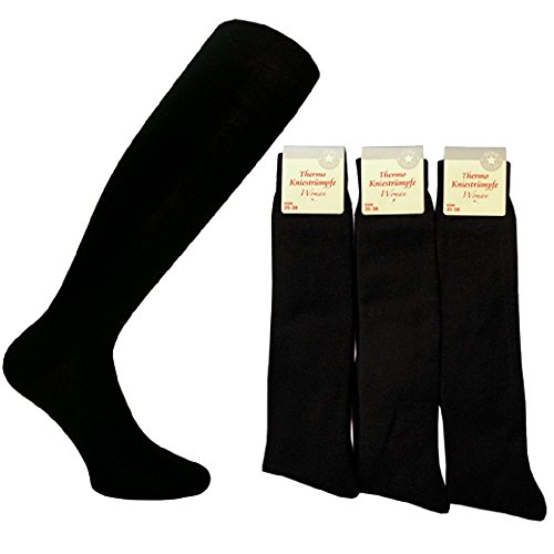 Star Socks Germany 5512 6 Paar Damen Winter Kniestrümpfe Größe 35-38