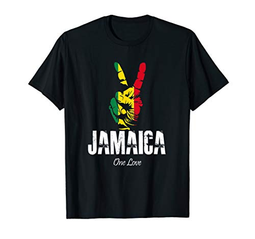 One Love Jamaica peace Zeichen. KARIBIK Urlaub T-Shirt