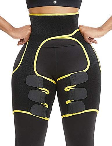 Borge Waist Trainer Shaping Hip Enhancer Lift Butt Lifter Shaper Light Thigh Support Shapewear Hips Belt for Women(Yellow-M)