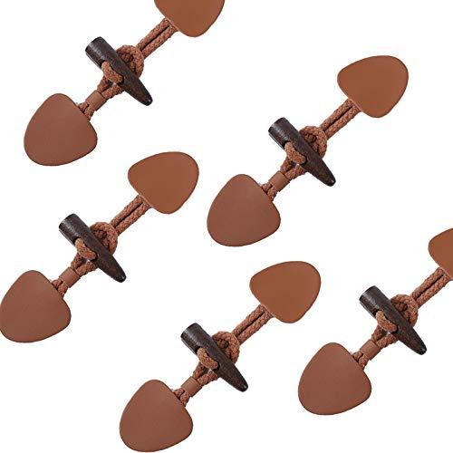 Anjing - 6 pares de botones de madera con bolsa, botón de cuerno para chaqueta de ropa, accesorio para abrigos de camello