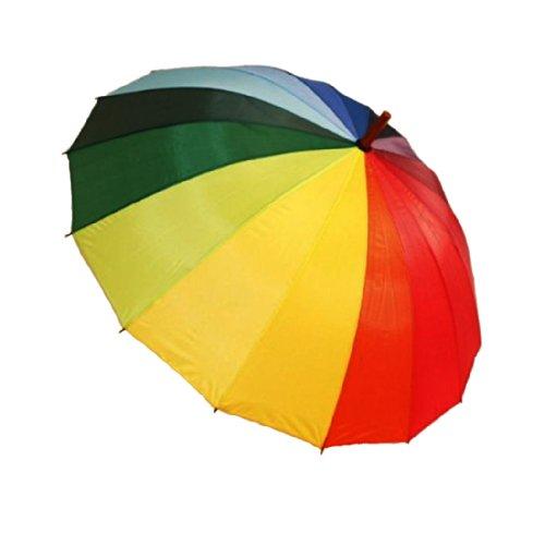 HAAC Regenschirm Golfschirm Regenbogen Automatik 105 cm