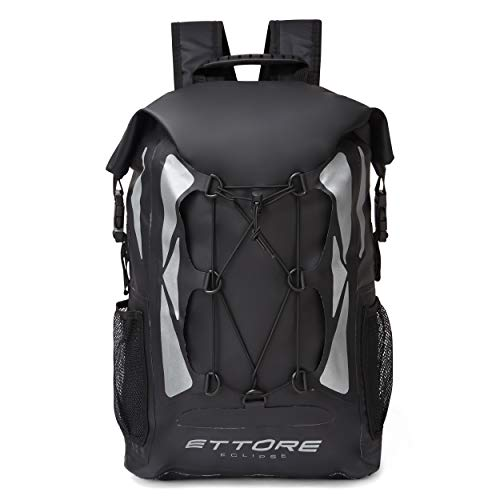 Ettore Cycling Rucksack 100% Waterproof Dry Bag 30L - Black - Eclipse