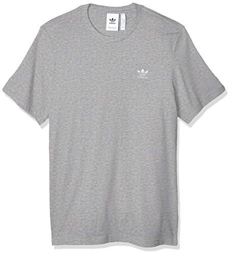 Adidas Trefoil Essentials Tee, Maglietta Uomo, Grigio (Medium Grey Heather), M