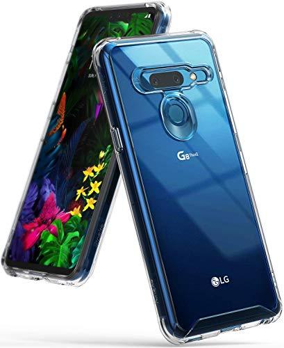 Ringke Fusion Compatible con Funda LG G8 ThinQ, Transparente PC Cubierta Protectora TPU Protección [Protección Caídas Grado Militar] contra Caídas Liviana para Cover LG G8 ThinQ (2019) - Claro