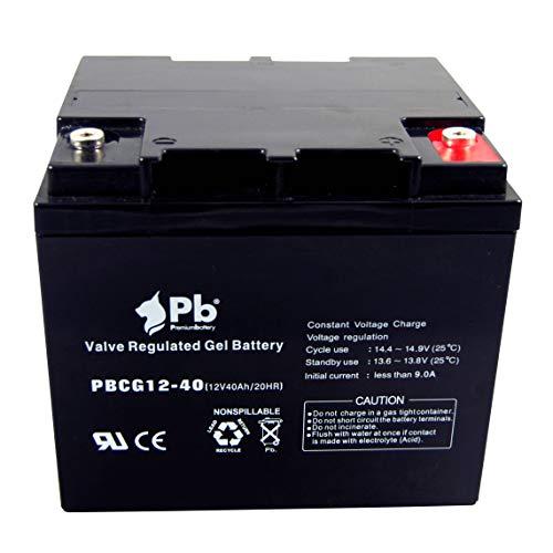 Premiumbattery Batería Gel Ciclo Profundo 12V 40Ah FullCG12-40
