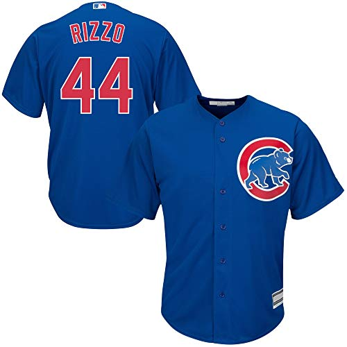 OuterStuff Anthony Rizzo Chicago Cubs MLB Boys Youth 8-20 Player Jersey (Blue Alternate, Youth Medium 10-12)