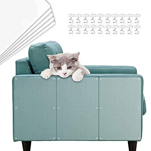 TaimeiMao Kratzschutz,Kratzschutz for Katze Hund,kratzschutz Sofa,Kratzabwehr Katzen,Transparent Katze Klebeband,Kratzschutz Set,Kratzschutz Möbel für Sofa, Tür, Möbel, Wand (5 Stücke-1)