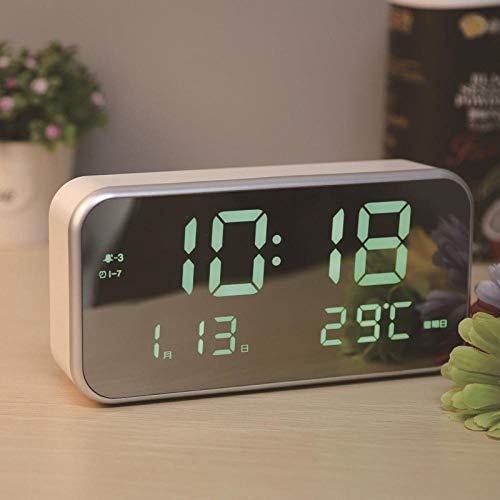 hlyhly Digitale klok, muziek, creatief, LED, elektronisch, verlicht, groot display, digitaal, spiegel
