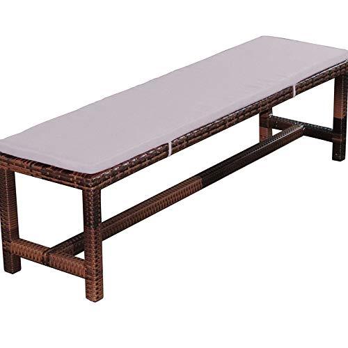 LRuilo Cojín de banco de 2 o 3 plazas, 3 cm, cojín de banco de jardín para silla de comedor de 120 cm, cojín lavable para interior y exterior (gris, 100 x 40 cm)