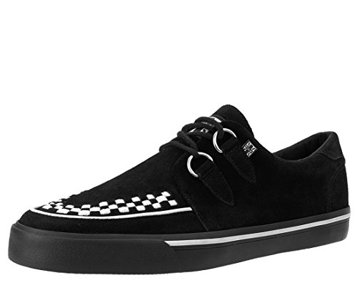 T.U.K. Unisex-Erwachsene VLK D Ring Creep Sneak BLK SDE WHT INT High-top, Black White Suede, 43 EU
